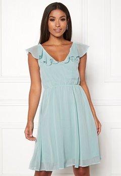 VILA Rannsil S/L Short Dress Blue Haze Bubbleroom.no