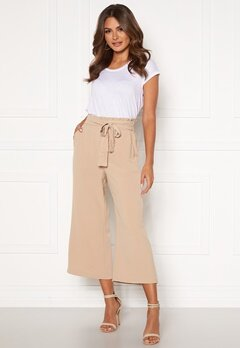 VILA Rasha HW Cropped Wide Pant Nomad Bubbleroom.no