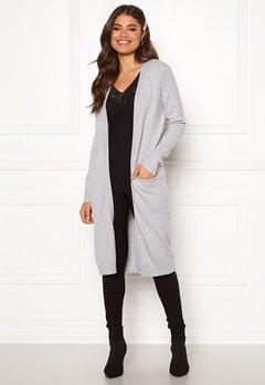 VILA Ril Long Knit Cardigan Light Grey Melange Bubbleroom.no