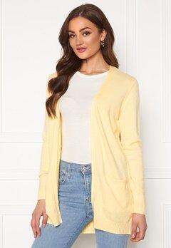 VILA Ril LS Open Knit Cardigan Mellow Yellow Bubbleroom.no