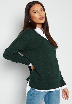 VILA Ril Oversize V-Neck Knit Top Darkest Spruce Bubbleroom.no