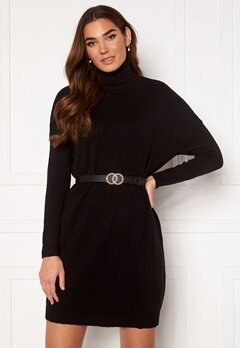 VILA Ril Rollneck L/S Knit Tunic Black Bubbleroom.no