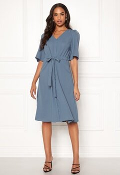 VILA Rissa S/S Dress China Blue Bubbleroom.no