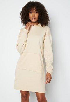 VILA Rust L/S Sweat Dress Birch bubbleroom.no