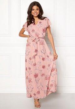 VILA Saffa Nandi S/S Maxi Dress Adobe Rose Bubbleroom.no