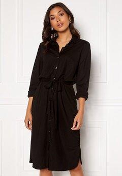 VILA Safina Midi L/S Dress Black Bubbleroom.no