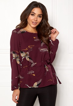 VILA Sarina Yalin L/S Top Winetasting Bubbleroom.no