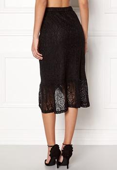 VILA Sepra Flounce Lace Skirt Black Bubbleroom.no