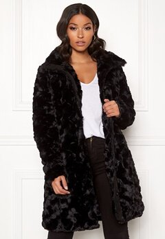 VILA Seria Coat Black Bubbleroom.no