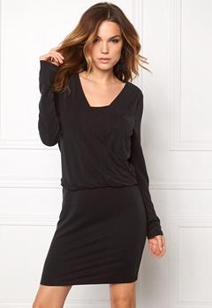 VILA Several L/S Dress Black Bubbleroom.no