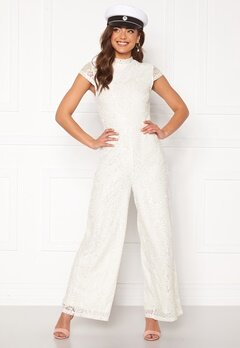 VILA Shayle Capsleeve Jumpsuit Cloud Dancer Bubbleroom.no