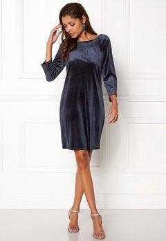 VILA Sienna 3/4 Sleeve Dress Dark Navy Bubbleroom.no