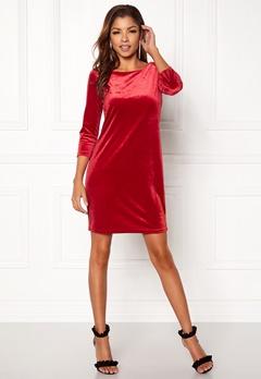 VILA Sienna 3/4 Sleeve Dress Scarlet Sage Bubbleroom.no