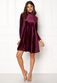 VILA Since Dress Fig Bubbleroom.no
