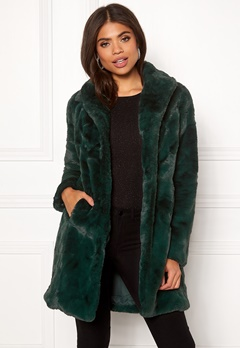 VILA Softa Faux Fur Coat Pine Grove Bubbleroom.no