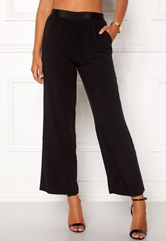 VILA Split Flared Pants Black Bubbleroom.no