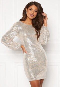 VILA Starlan L/S Dress Frosted Almond Bubbleroom.no