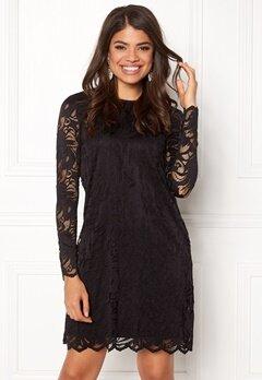 VILA Shape Lace A-Shape Dress Black Bubbleroom.no