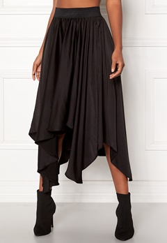 VILA Sulla Asymetric Skirt Black Bubbleroom.no