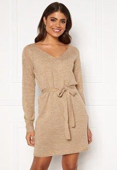 VILA Suril L/S V-Neck Short Knit Dress Nomad Bubbleroom.no
