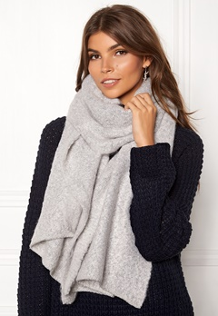 VILA Tobi Knit Scarf Light Grey Melange Bubbleroom.no