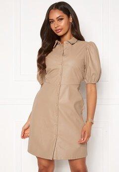 VILA Tura 2/4 Dress Soft Camel Bubbleroom.no