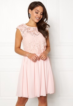 VILA Ulvica S/L Dress Peach Blush Bubbleroom.no