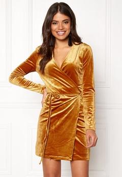 VILA Velvetine Short Dress Coppar Bubbleroom.no