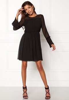 VILA Vesper L/S Dress Black Bubbleroom.no