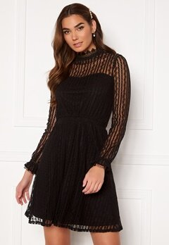 VILA Vesra L/S Lace Dress Black Bubbleroom.no