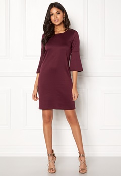 VILA Virufflesleeve Dress Fig Bubbleroom.no