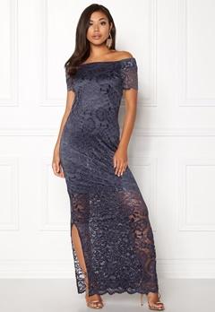 VILA Zally Off Shoulder Dress Grisaille Bubbleroom.no