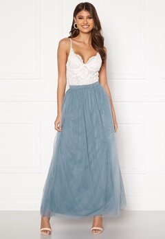 VILA Zamara Hw Maxi Skirt/DC Ashley Blue Bubbleroom.no