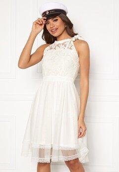 VILA Zinna New S/L Dress Snow White Bubbleroom.no
