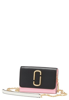 Marc Jacobs Wallet On Chain Black Baby Pink Bubbleroom.no