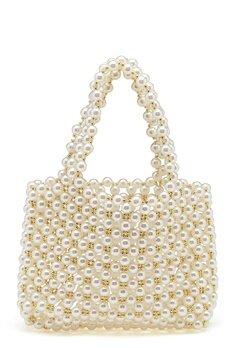 WOS Britney Pearl Bag Vit Bubbleroom.no