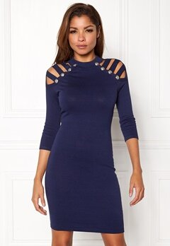 WOW COUTURE Dillon Sweater Dress Navy Bubbleroom.no