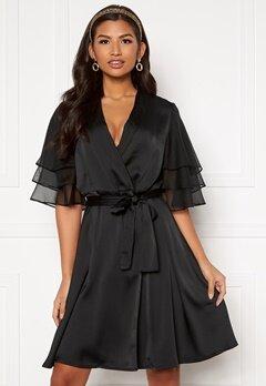 Y.A.S Abigail SS Midi Dress Black Bubbleroom.no