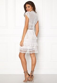 Y.A.S Alberte Capsleeve Lace Dress Star White Bubbleroom.no