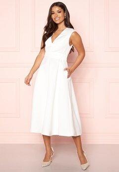 Y.A.S Alice SL Midi Dress Star White Bubbleroom.no