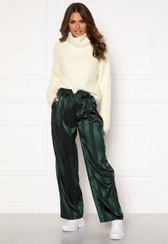 Y.A.S Audrey Wide Pants Green Gambles Bubbleroom.no