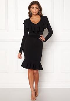 Y.A.S Aya LS Knit Dress Black Bubbleroom.no