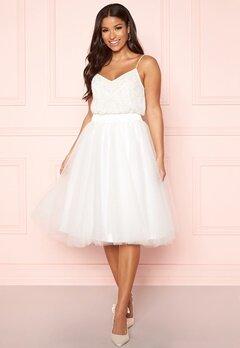 Y.A.S Ballet Midi Skirt Star White Bubbleroom.no
