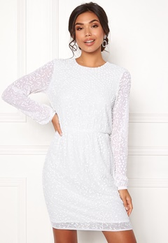 Y.A.S Beada LS Dress Star White Bubbleroom.no