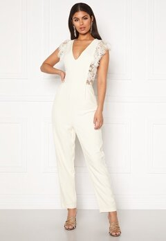 Y.A.S Beatrice SL Ankle Jumpsuit Star White Bubbleroom.no