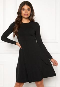 Y.A.S Blax LS Flared Dress Black Bubbleroom.no