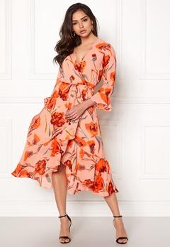 Y.A.S Cacco Wrap Dress Rose Smoke Bubbleroom.no