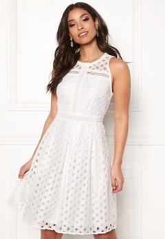 Y.A.S Circle S/L Dress Star White Bubbleroom.no