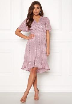 Y.A.S Dawny S/S Dress Dawn Pink W Gold Bubbleroom.no