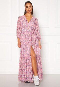 Y.A.S Esmeralda Wrap 3/4 Maxi Dress Cradle Pink Bubbleroom.no